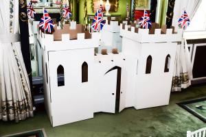 The famous cardboard castle